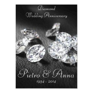 60th Diamond Wedding Anniversary Invitation 14 Cm X 19 Cm Invitation Card