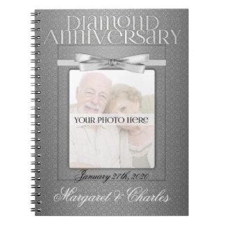 60th Diamond Wedding Annivsersary Guest Book Notebook