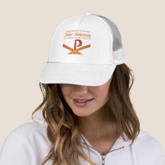 60th Jubilee Anniversary Nun Pax Cross, Orange Trucker Hat