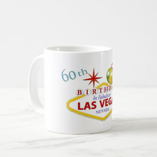 60th Las Vegas Birthday Mug