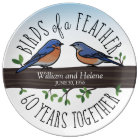 60th Wedding Anniversary, Bluebirds of a Feather Plate
