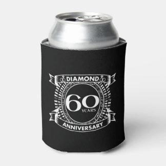 60th wedding anniversary diamond crest can cooler