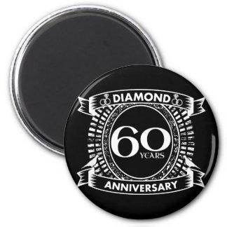 60th wedding anniversary diamond crest magnet
