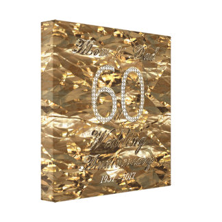 60th Wedding Anniversary Diamond Wedding Parents Canvas Print