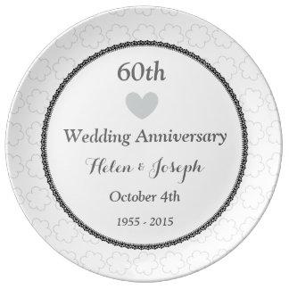 diamond wedding anniversary plates. Black Bedroom Furniture Sets. Home Design Ideas