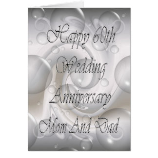 60th Wedding Anniversary For Mum And Dad Card
