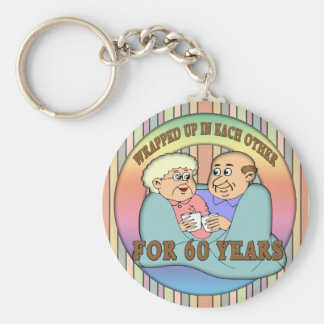 60th Wedding Anniversary Gifts Basic Round Button Key Ring