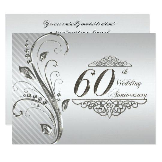 60th wedding anniversary invitation card zazzlecomau for Free printable 60th wedding anniversary invitations