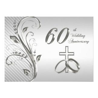 60th Wedding Anniversary Invitation Card