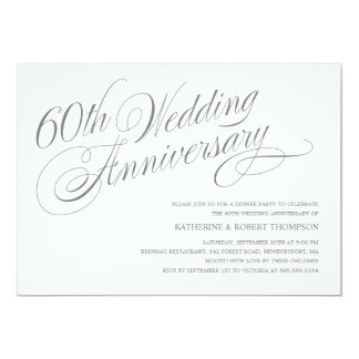 60th Wedding Anniversary Invitations & Announcements ...