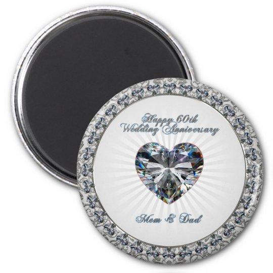 60th Wedding Anniversary Magnet