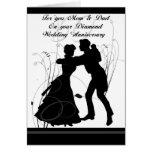 60th Wedding Anniversary Mum & Dad Greeting Card