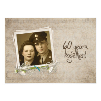 60th Wedding Anniversary Open House Card
