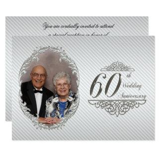 60th Wedding Anniversary Photo Invitation Card