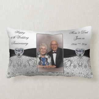 60th Wedding Anniversary Photo Lumbar Throw Pillow