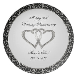60th Wedding Anniversary Plate