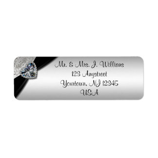 60th Wedding Anniversary Return Address Label