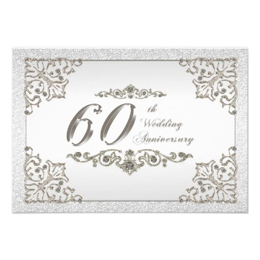 60th wedding anniversary cards party invitations ideas for 60 wedding anniversary symbol