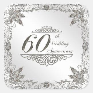 60th Wedding Anniversary Stickers