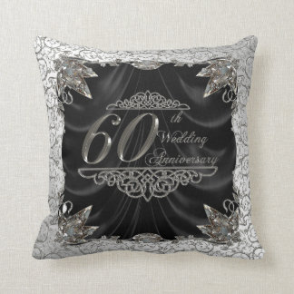 60th Wedding Anniversary Throw Pillow