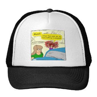 614 car in common cartoon trucker hats