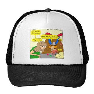 616 want dinner cartoon cap