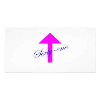 61 Arrow Custom Photo Card