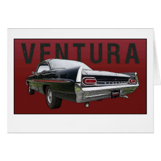 61 Pontiac Ventura Rear View note card. Card