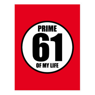 61 - prime of my life postcard