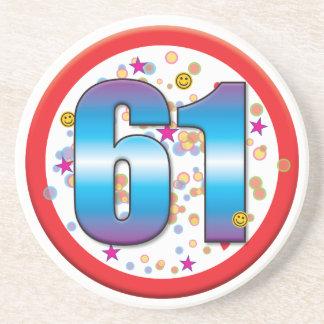 61st Birthday v2 Coaster