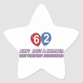 62 aint just a number star stickers