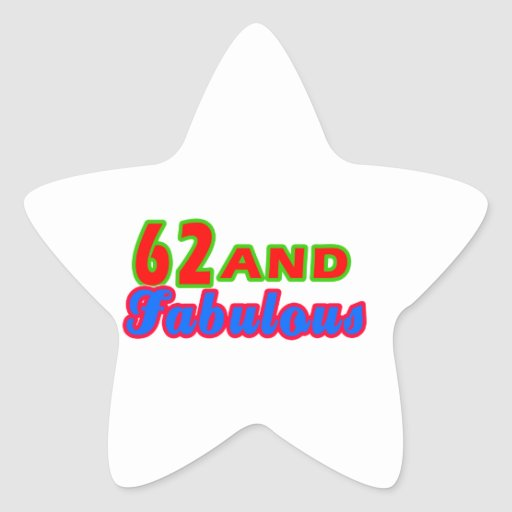 62 and Fabulous Birthday Designs Stickers