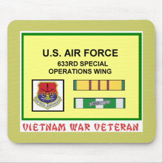 633RD SPECIAL OPERATIONS WING VIETNAM WAR VET MOUSE PAD