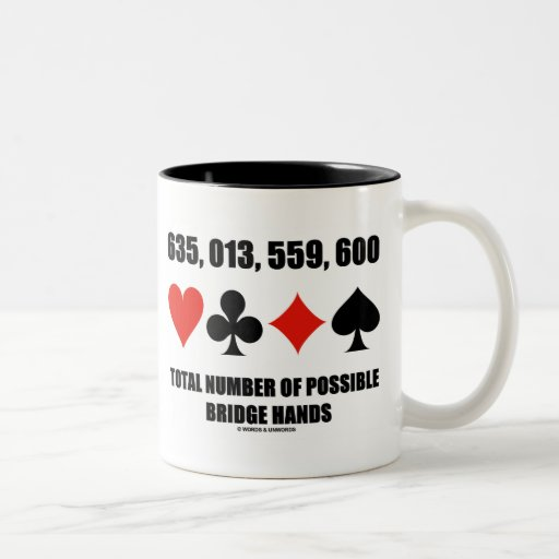 635,013,559,600 Total No Of Possible Bridge Hands Mug