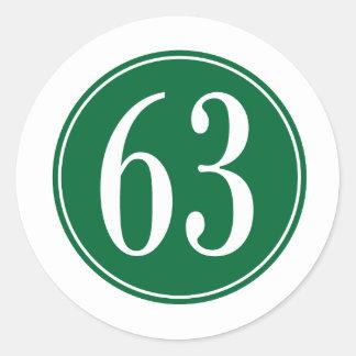 #63 Green Circle Round Sticker