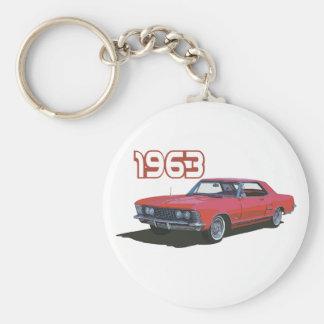 63 Riviera Basic Round Button Key Ring