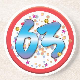 63rd Birthday Drink Coasters