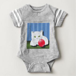63White Cat_rasterized Baby Bodysuit