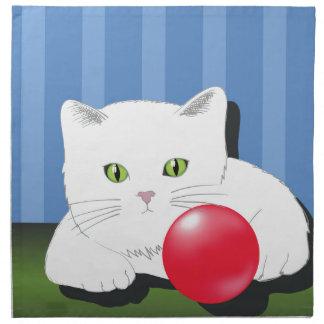 63White Cat_rasterized Napkin