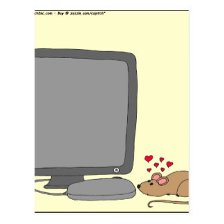 640 mouse love cartoon postcard
