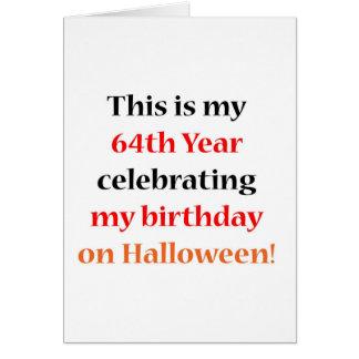 64 Halloween Birthday Card