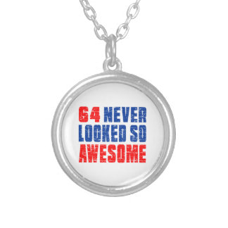 64 Never Looked So Awesome Silver Plated Necklace