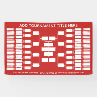 64 Team - Tournament Bracket - can change color Banner