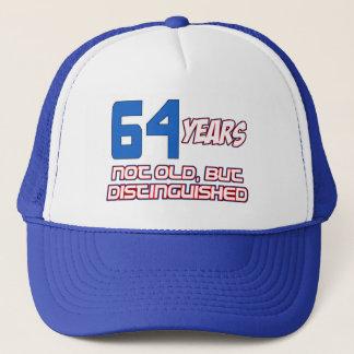 64 YEARS OLD BIRTHDAY DESIGNS TRUCKER HAT
