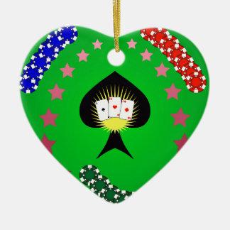 64Casino Logo_rasterized Ceramic Ornament
