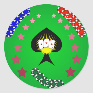 64Casino Logo_rasterized Classic Round Sticker