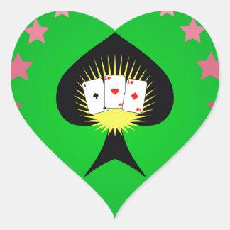 64Casino Logo_rasterized Heart Sticker
