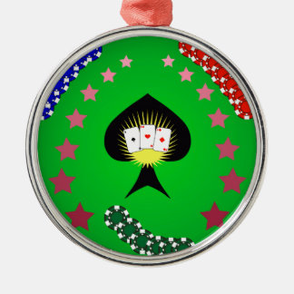 64Casino Logo_rasterized Metal Ornament