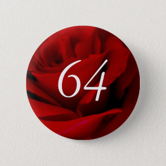 64th Birthday 6 Cm Round Badge