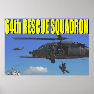 64th Rescue Squadron Poster